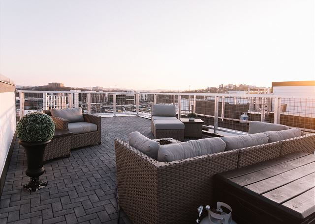 2nd Level of the Expansive Rooftop Deck