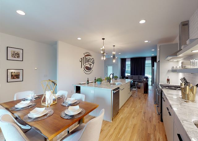 Gas Stove, Full Appliances, Dinnerware, Flatware & All the Kitchen Gadgets Included