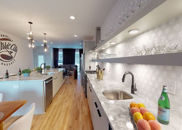 Expansive Kitchen with Stemware and Beyond!