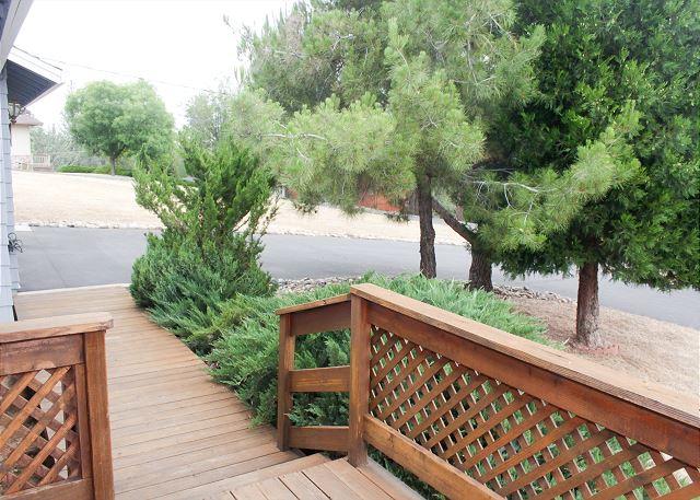 Front entrance patio area