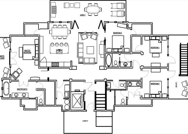 4 Bedroom Penthouse Floor Plan