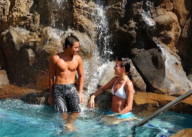 Tropical Waterfall Spa for your relaxation