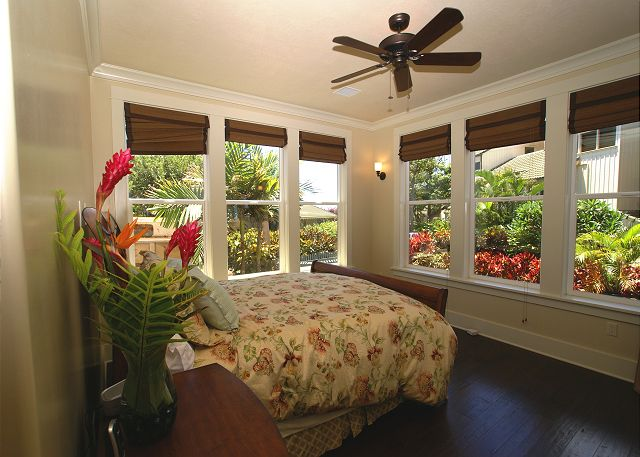 garden view from the master bedroom