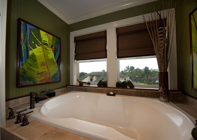 master tub with ocean view