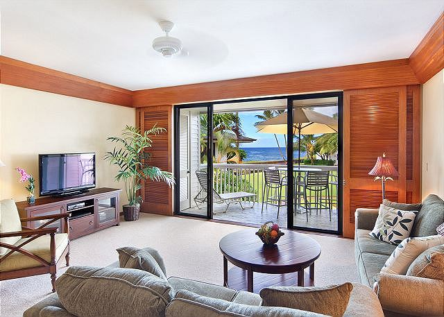 Condo 50,  Amazing Ocean Views, Private Corner Location, HD TV, $275 - Poipu, Hawaii