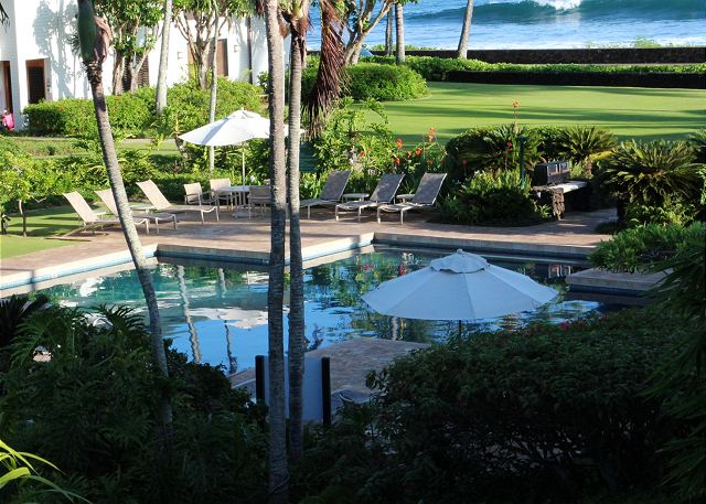 Tranquil, gorgeous Poipu Kapili pool and grounds with Pacific Oc