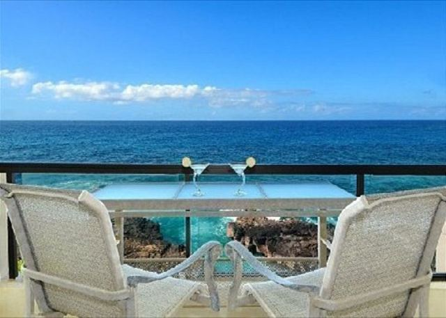 Enjoy the views and abundant sea life from the lanai of Poipu Sh