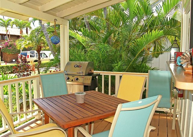 Covered oceanview lanai