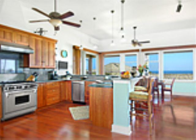 Ho'ohu Nani gourmet kitchen with ocean views