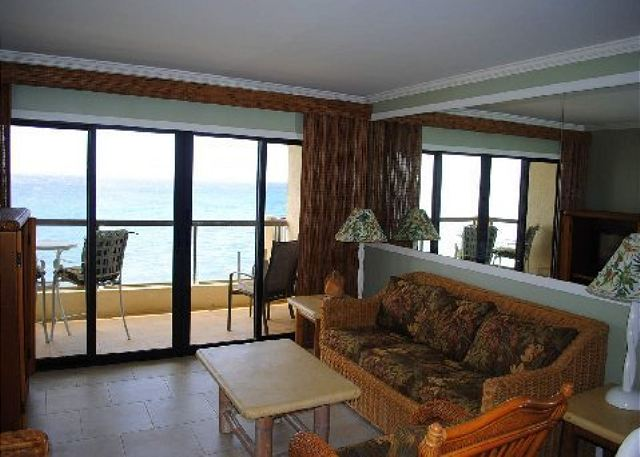 This is living!  All new surroundings at oceanfront Poipu Shores