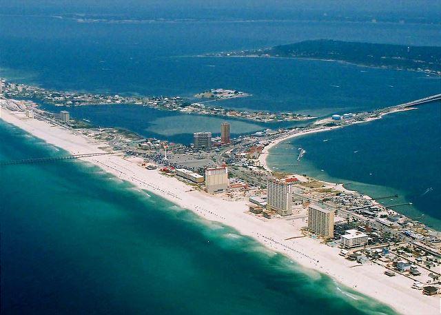 Aerial View Of Pensacola Beach