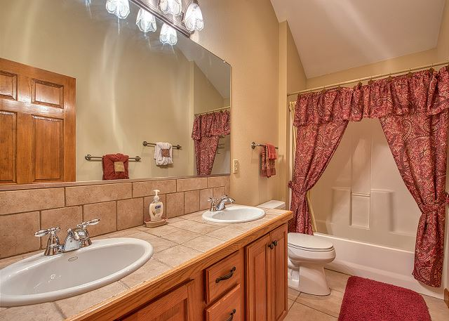 Second Floor Bath with double sinks