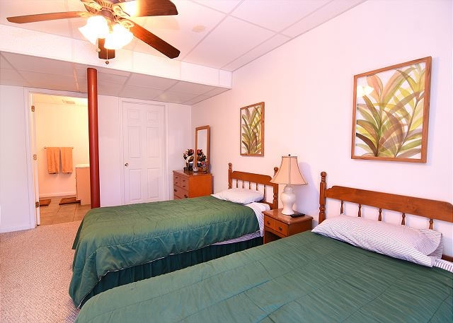Lower Level Twin Bedroom with Full Bath