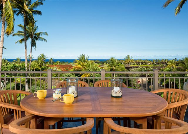 Panoramic ocean view from the 2 floor townhome - watch the sunset off your lanai.