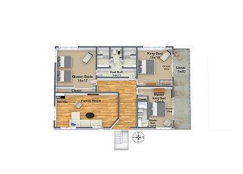 Second Floor, Main House