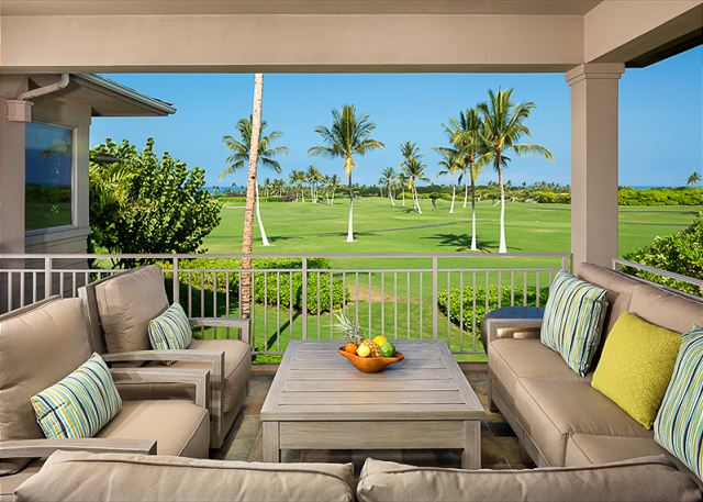 Large Lanai space serves as additional living area. Also includes a barbecue (just out of view)!