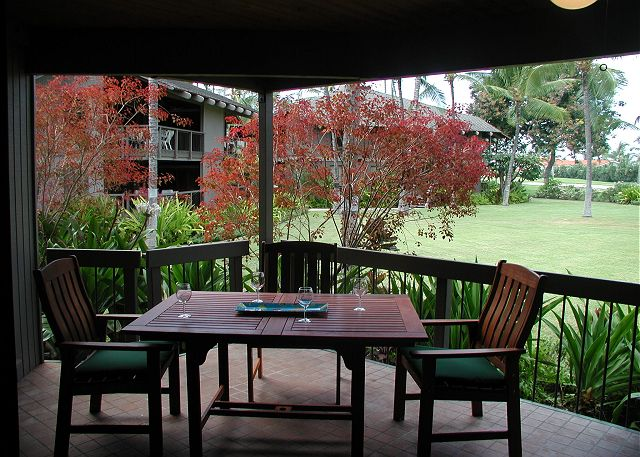 Keauhou vacation rentals featuring 2 BR 2 BA surrounded by tropical gardens