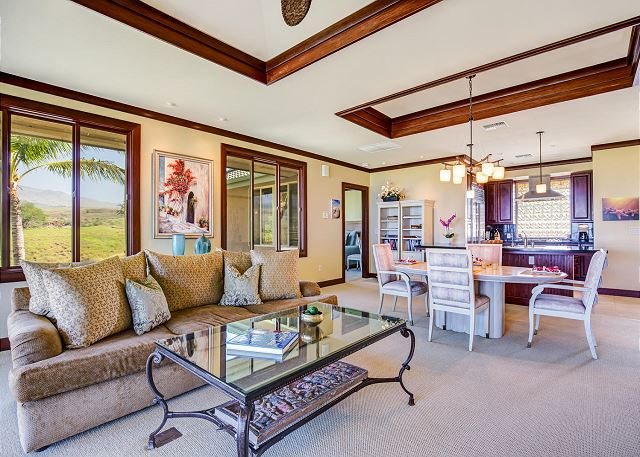 Waikoloa vacation rentals featuring 3 BR 3 BA ocean view villa