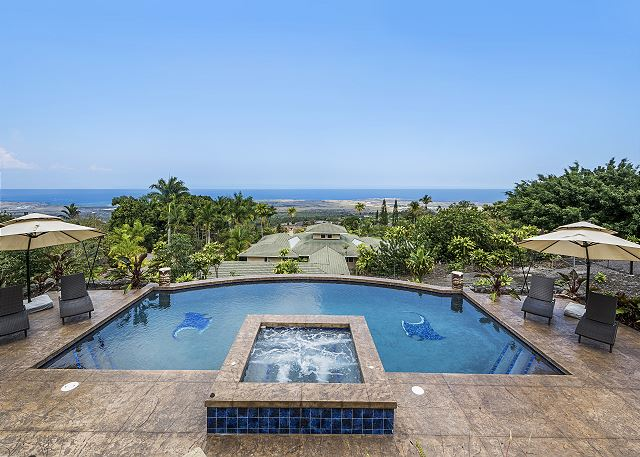 North Kona vacation rentals featuring 6 BR 4 BA sleeps 12 breathtaking views