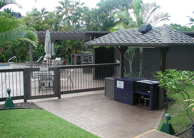BBQ area next to the pool