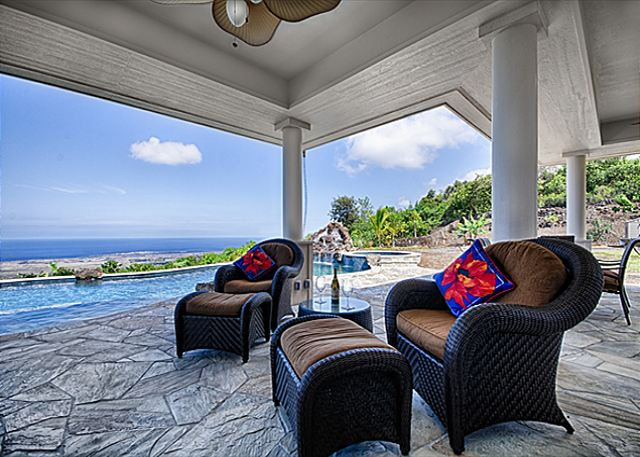 North Kona vacation rentals featuring 3 BR 3 BA spectacular coast line views