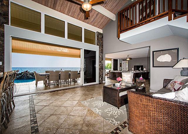 Great Room Bridges Living Room & Kitchen Areas