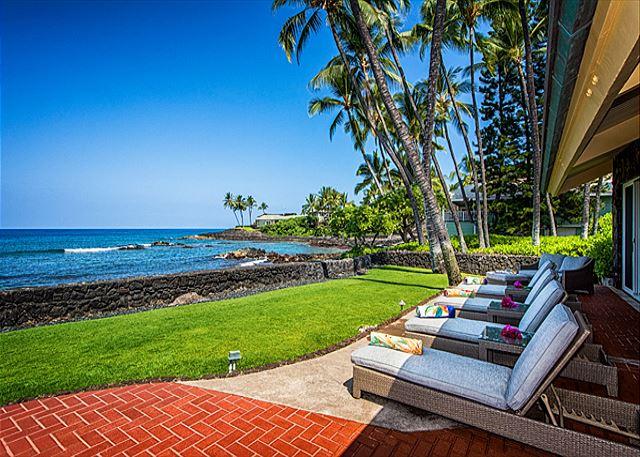 Oceanfront Outdoor Lanai Seating (Restoration Hardware)