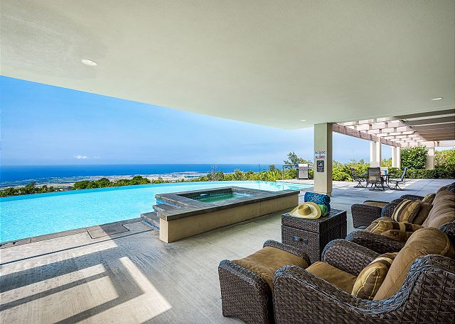 North Kona vacation rentals featuring 7 BR 7 BA sleeps 17 spectacular views