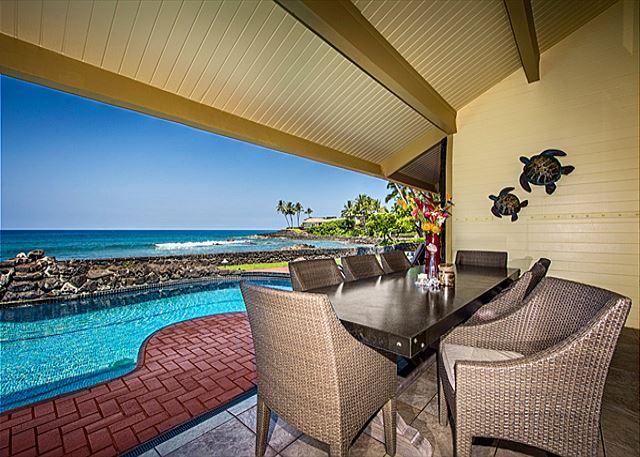 Outside Oceanfront Dining for Ten