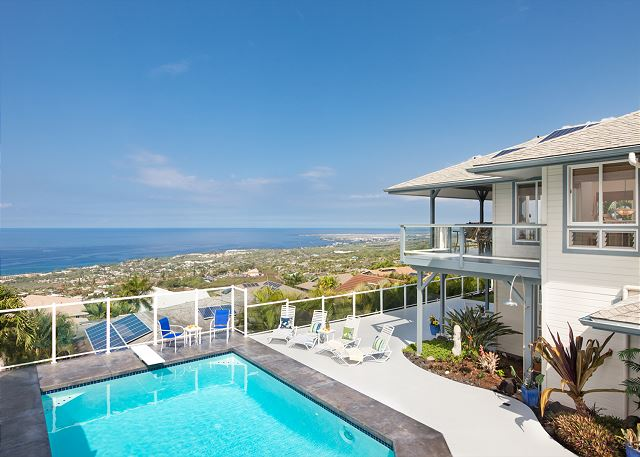 Kailua Kona vacation rentals featuring 4 BR 3.5 BA stellar ocean views
