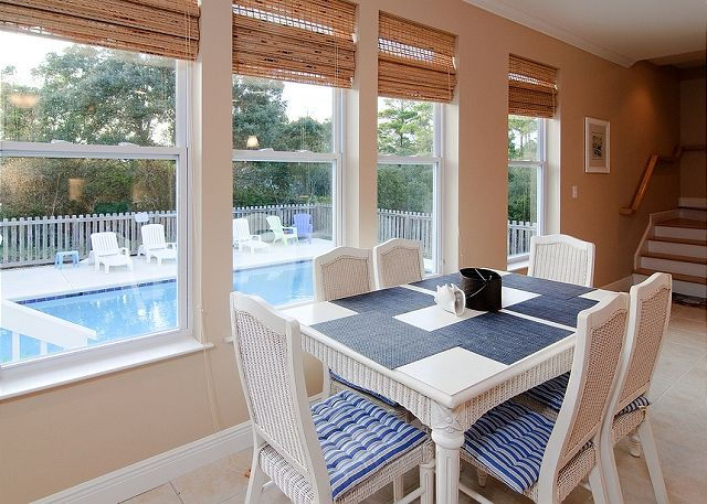 Carriage House Dining Area ~ Seagrove Beach, FL