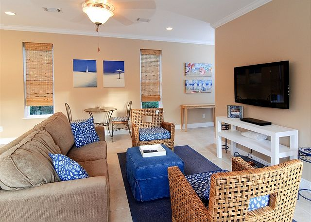 Carriage House Living Area ~ Seagrove Beach, FL
