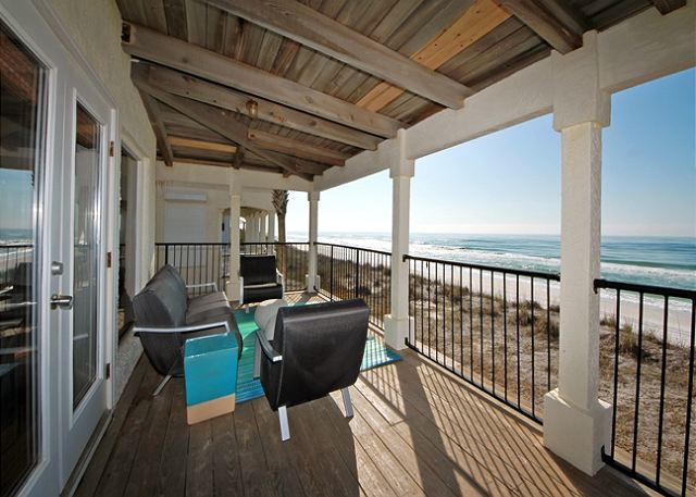 Outdoor Veranda Seating ~ Santa Rosa Beach, FL
