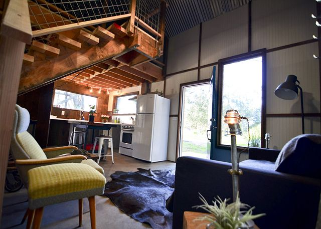 Cozy Industrial Interior with reclaimed materials used throughout