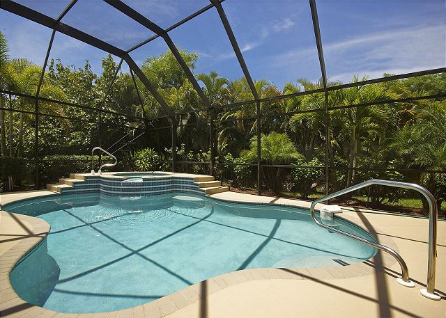 Enjoy the heated private, gorgeous resort style pool and spa of this home!