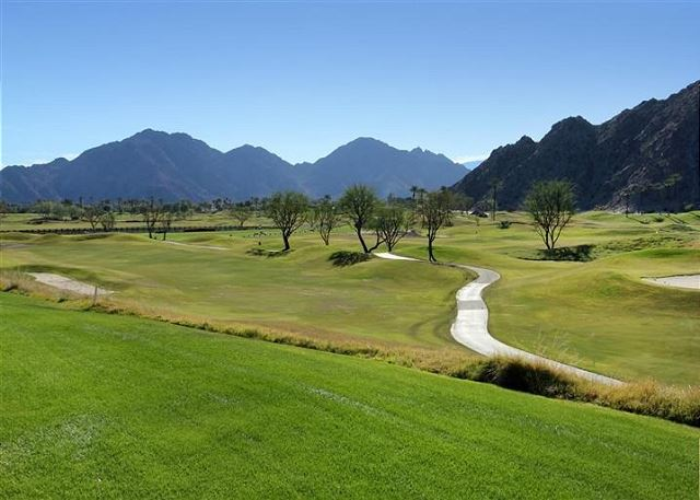 Views of the 18th Fairway and Santa Rosa Mountains.