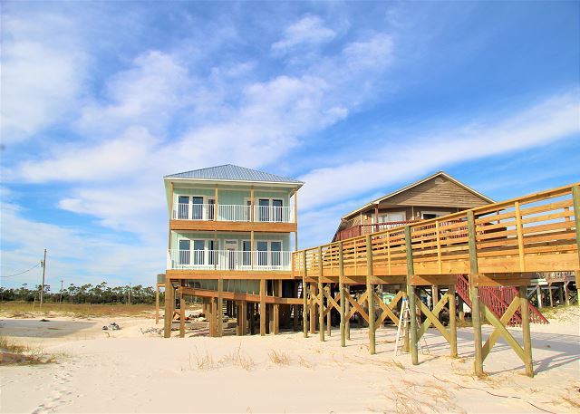 7BR Gulf Front Beach Home with Private Pool -- New Construction