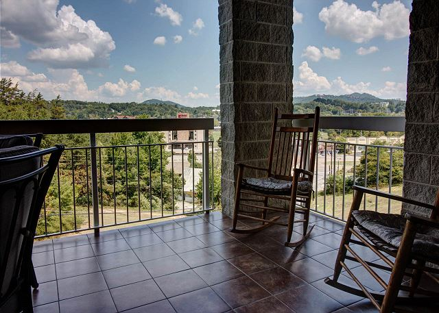 Private Balcony overlooking Pigeon Forge