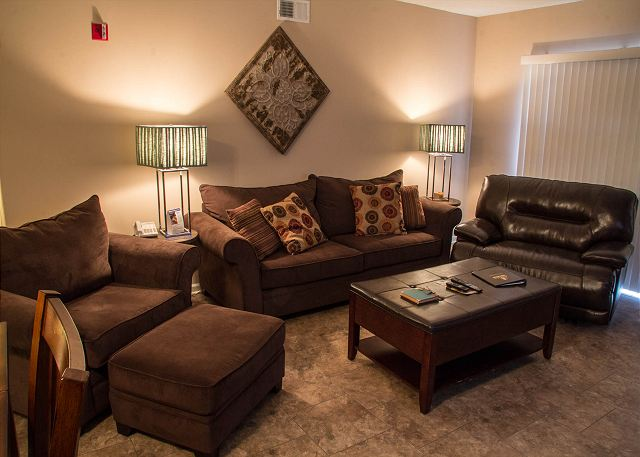 Plenty of Comfortable Seating in Living Room