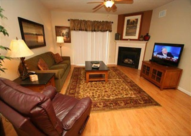 Spacious Living Room with Flat Screen TV