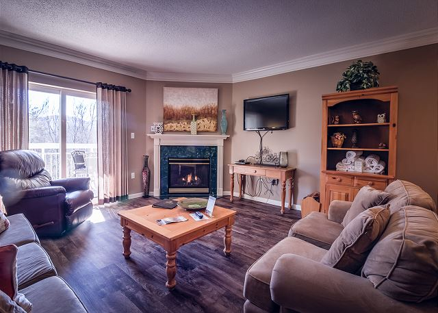 Hardwood Floor, Gas Fireplace, Flat Screen TV with DVD