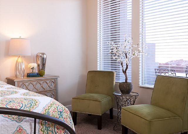 Seating in master suite - King