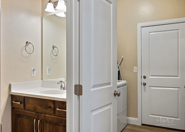 Half bathroom & laundry Room