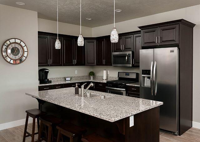 Sleek fully equiped Kitchen