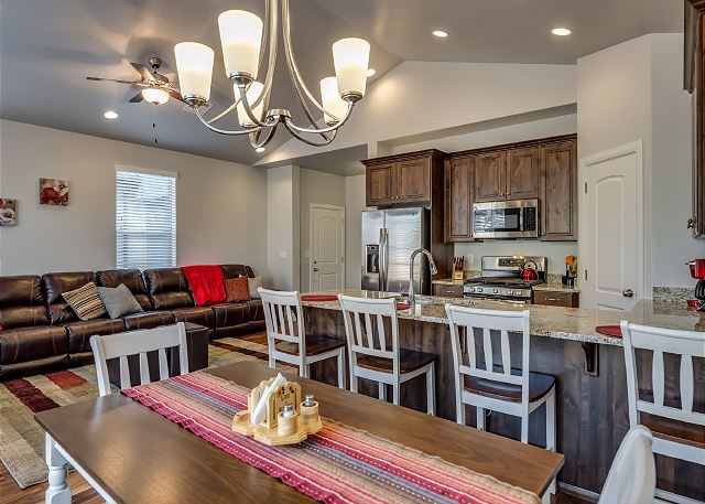 Dining Area, Kitchen, Living Room