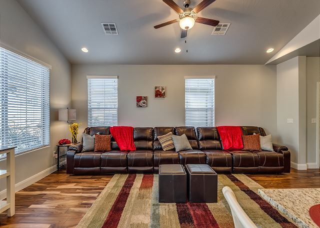 Living Room with 8 Recliners