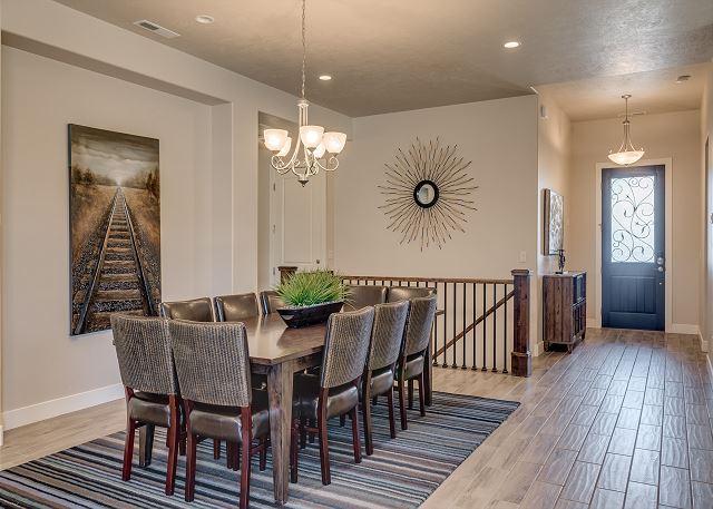Dining room, looking at front door