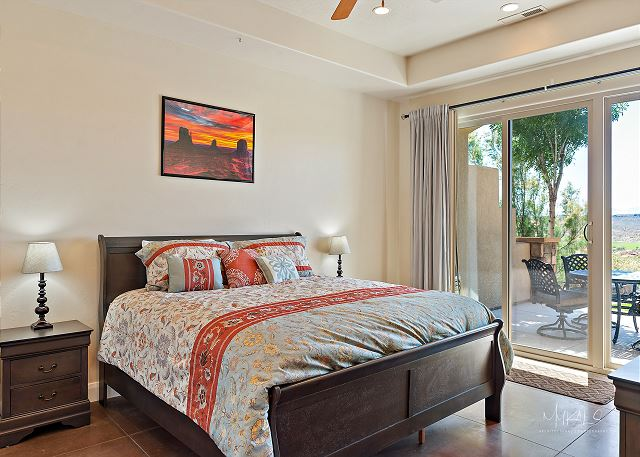 Master bedroom to patio