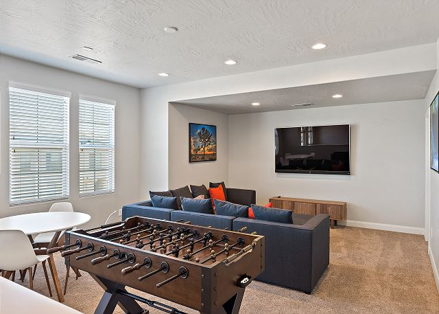 Upstairs family room - game table - Foosball