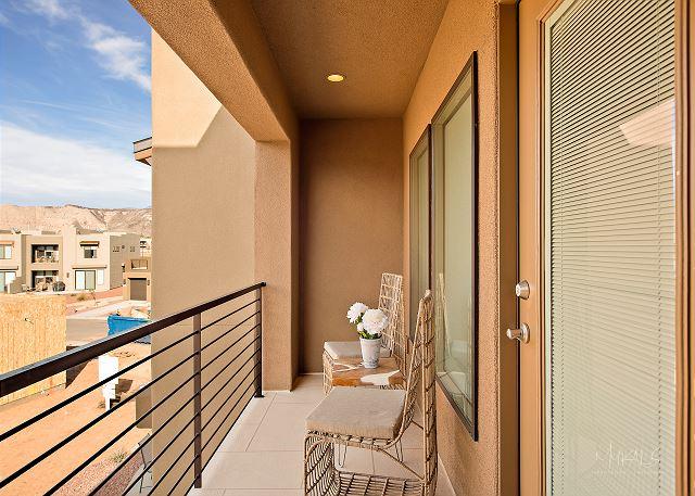 2nd floor patio off back bedroom